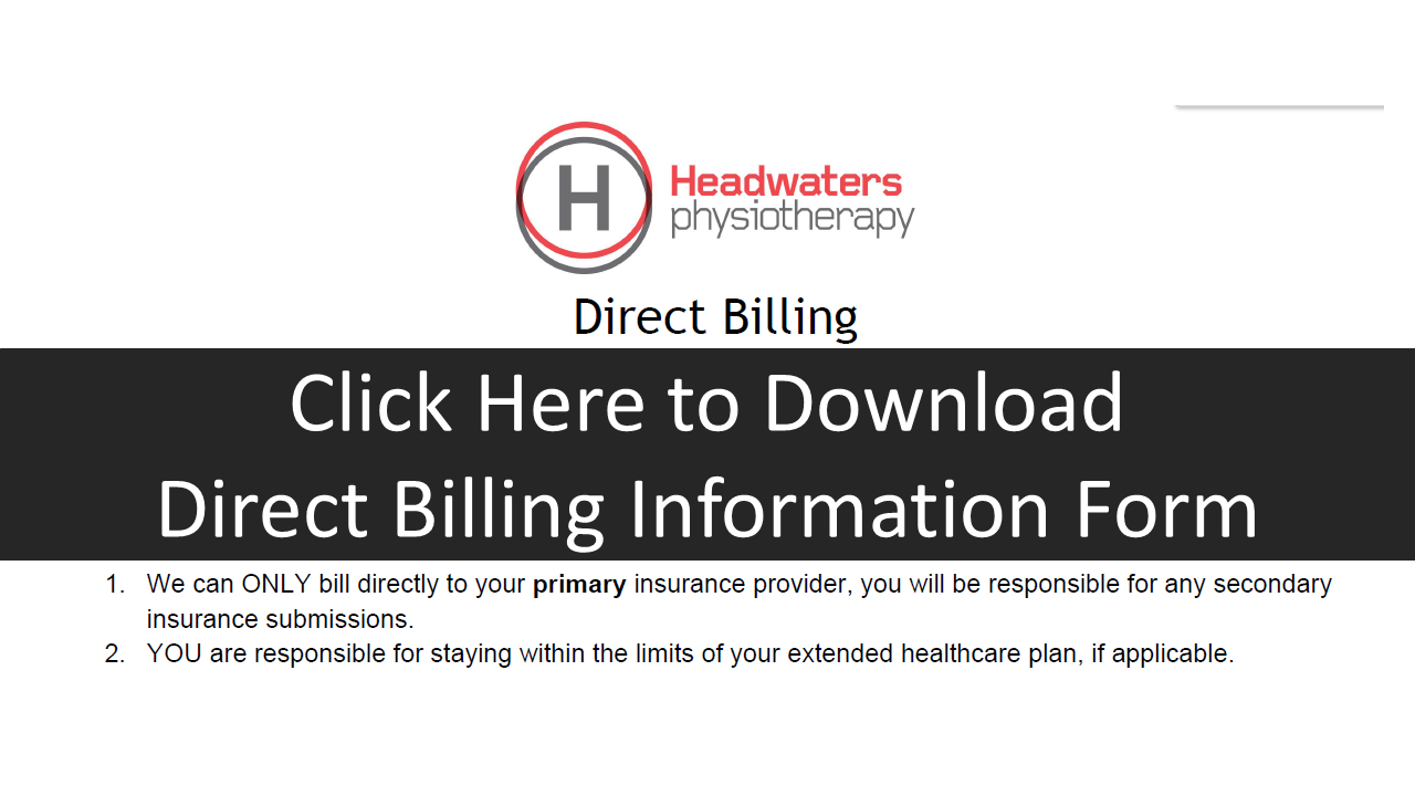 Direct Billing form