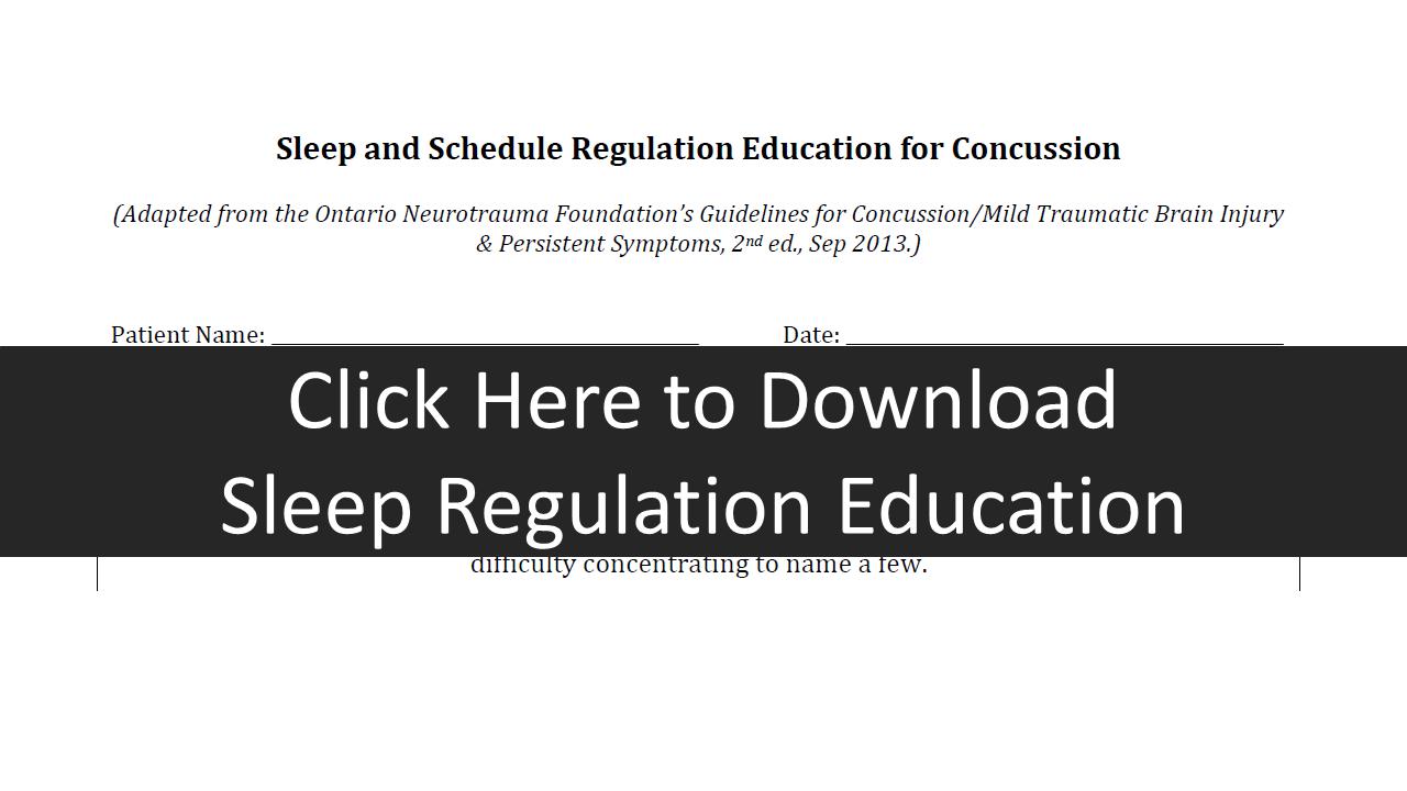 Sleep Education Regulation form