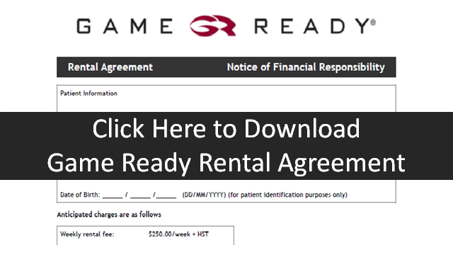 Game Ready Rental Agreement form